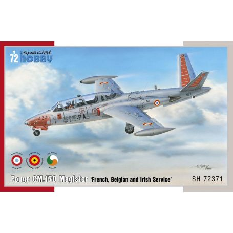 Avion special hobby Fouga-CM.170-Magister-French-belgian-and-irish-Service